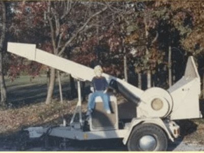 early chipper machine for tree service